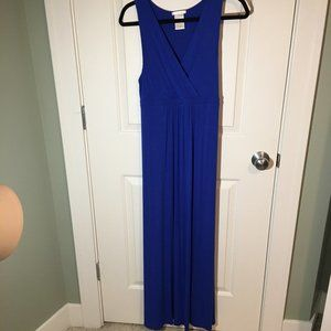 Matty M Royal Blue Sleeveless Maxi Dress (M)